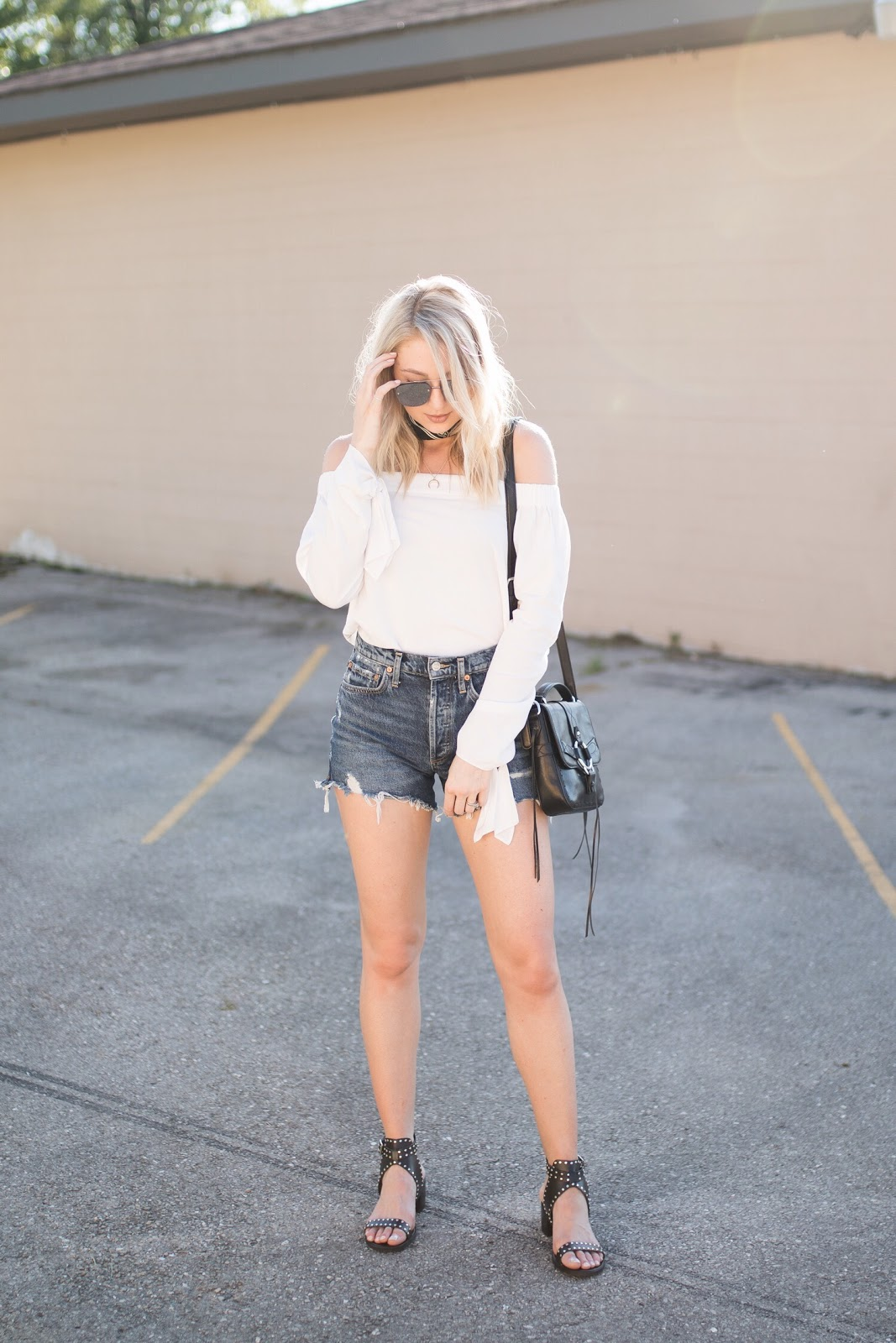 How to style an off-the-shoulder top & shorts