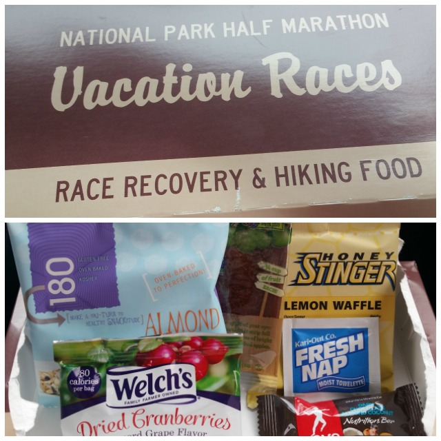 Vacation Races provided Race Recovery & Hiking Food boxes to each runner to encourage everyone to explore the park after the race. | #ZionHalf