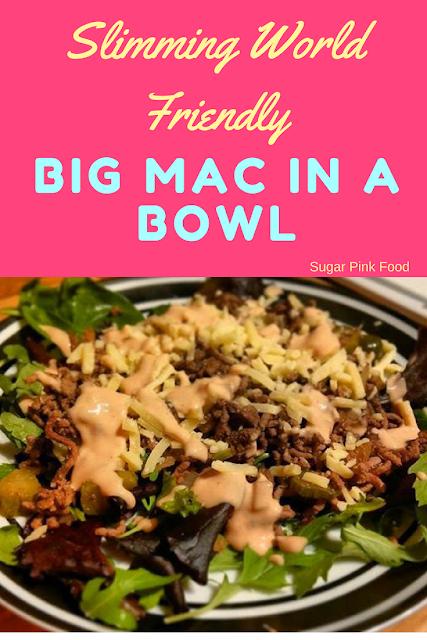 Slimming World Big Mac in a Bowl slimming world