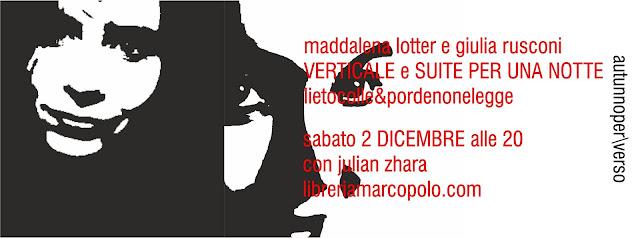 Lotter e Rusconi alla MarcoPolo - sabato 2 dicembre