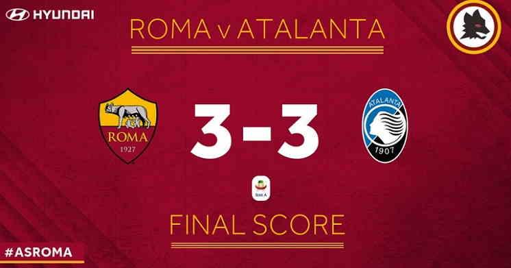 Hasil Roma vs Atalanta Skor Akhir 3-3 [Serie A 2018]