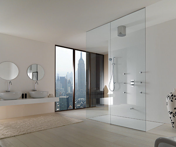 Can Look For Things Like Toughened Safety Glass And Extra Thick Glass New Home Ideas- Adorable Open Shower Bathroom Design With Glass Cabinet
