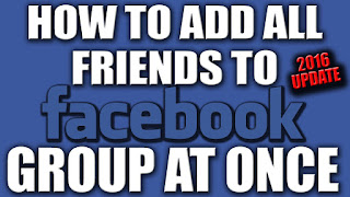 how to add all friends to facebook group with one click