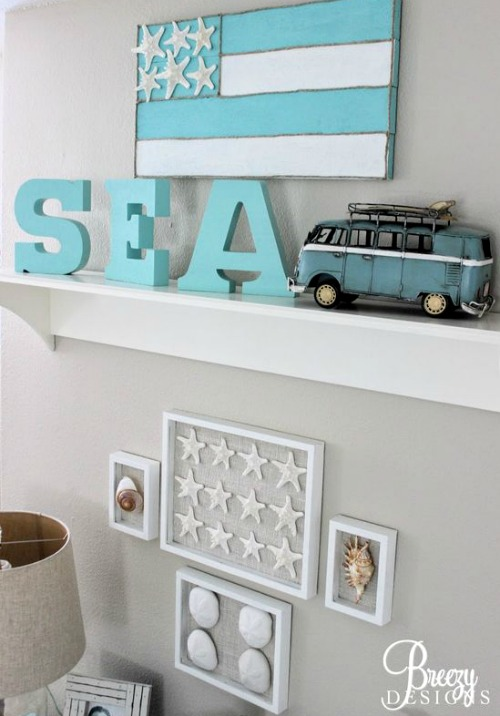Marvelous Beach Theme Gallery Wall