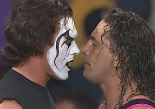 WCW Mayhem 1999 - Sting and Bret Hart faced off in the World title tournament