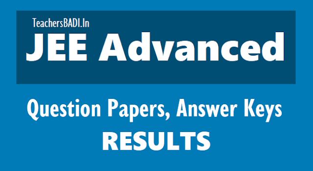JEE Advanced 2019 Answer Keys, Question Papers
