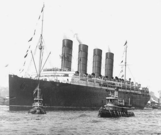 RMS Lusitania, en 1907