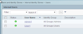 Cisco ACS setting local users