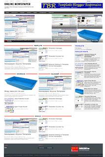online newspaper template responsive