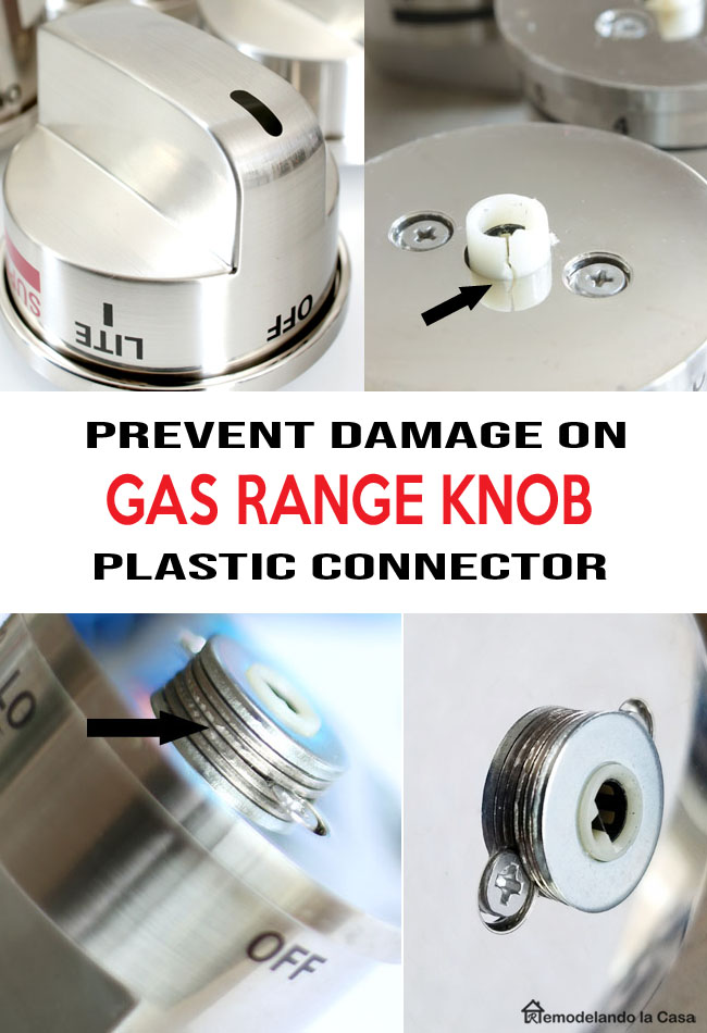 metal washers and super glue for stove knobs