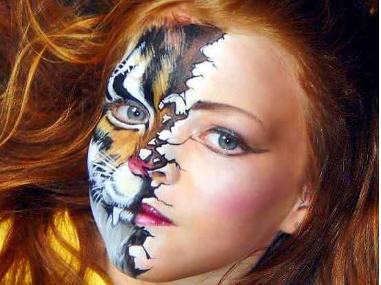sexy tips kings: Halloween Face Makeup Of Girls