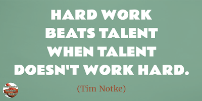 "Motivational Quotes For Work: ""Hard work beats talent when talent doesn't work hard."" - Tim Notke"