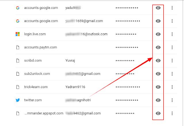 Google Crome Hidden Password Kaise Check Kare?