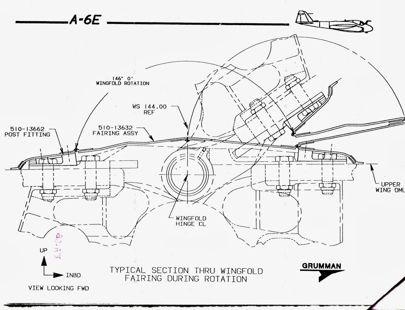Tailhook Topics Grumman A 6 Wing Fold Differences Part 2