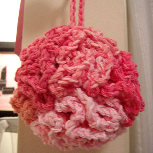 Pink Bath Puff - Free Pattern