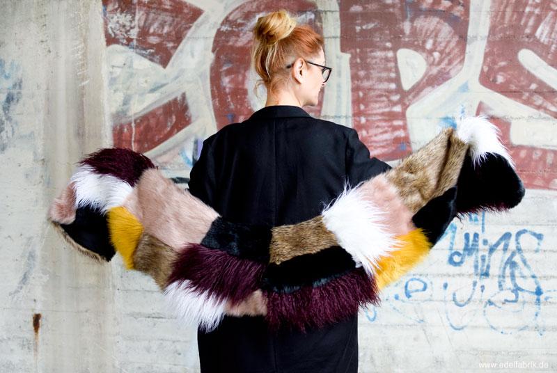 Schal aus Kunstfell, bunter Kunstfell Schal, Schal von River Island