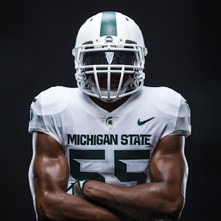 michigan state white helmet 2017
