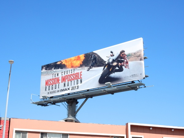 Mission Impossible Rogue Nation billboard