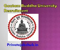 Gautam Buddha University Recruitment