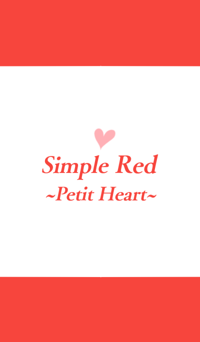 Simple Red ~Petit Heart.~
