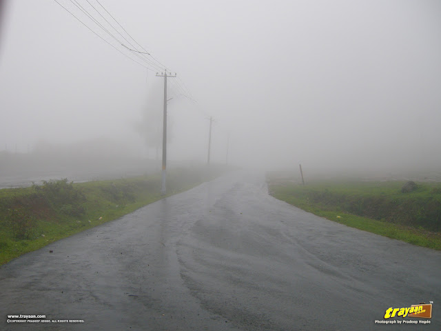 A rainy and foggy day, on the way to Madikeri from Talakaveri in Bhagamandala at Coorg, Kodagu district, Karnataka