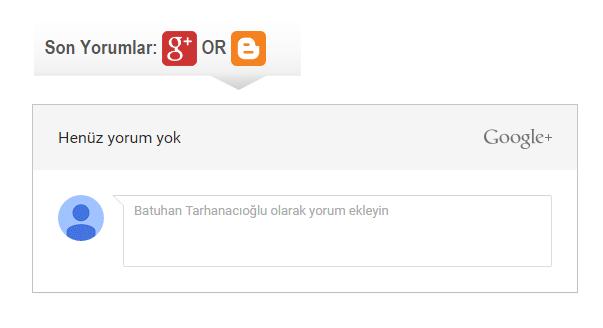 Blogger Yorumlara Google+ Yorumları İlave Etmek