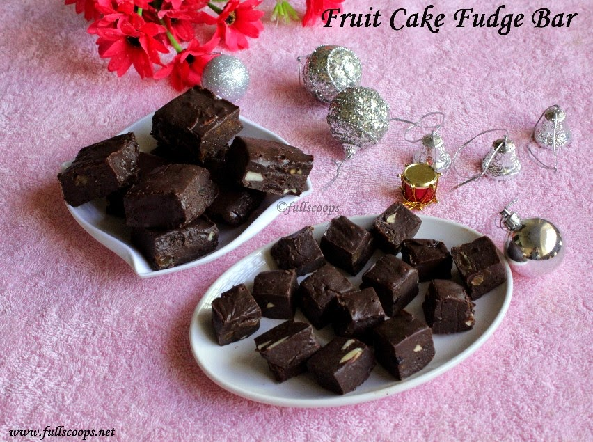 Fruit Cake Fudge Bar