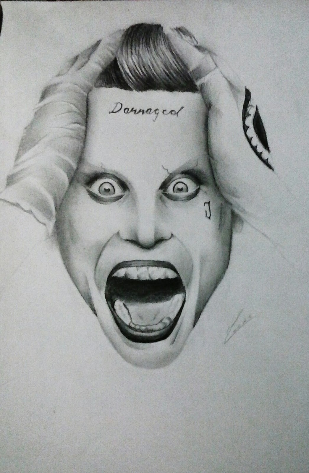 Wellerson Cesar Drawing The Joker Jared Leto Joker