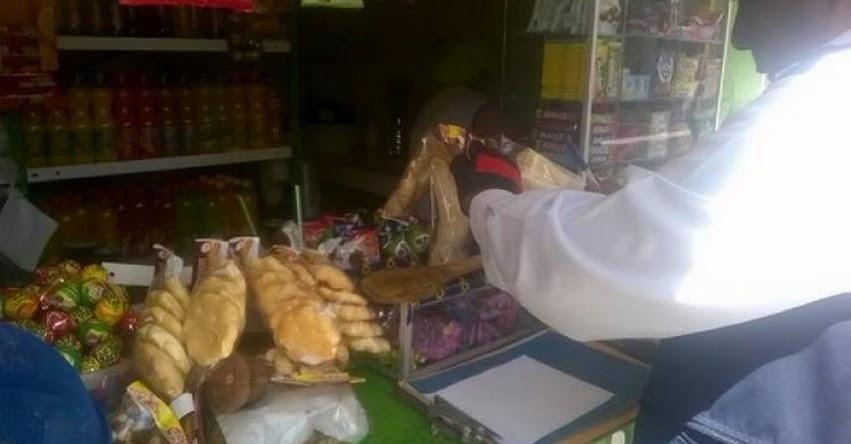 Decomisan productos sin registro sanitario en quioscos escolares del distrito de José Luis Bustamante y Rivero en Arequipa