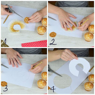 cómo hacer wrapper con el envoltorio de la magdalena o capsula de cupcake- cápsula cupcake