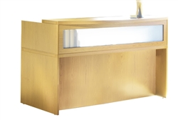 Maple Office Reception Desk
