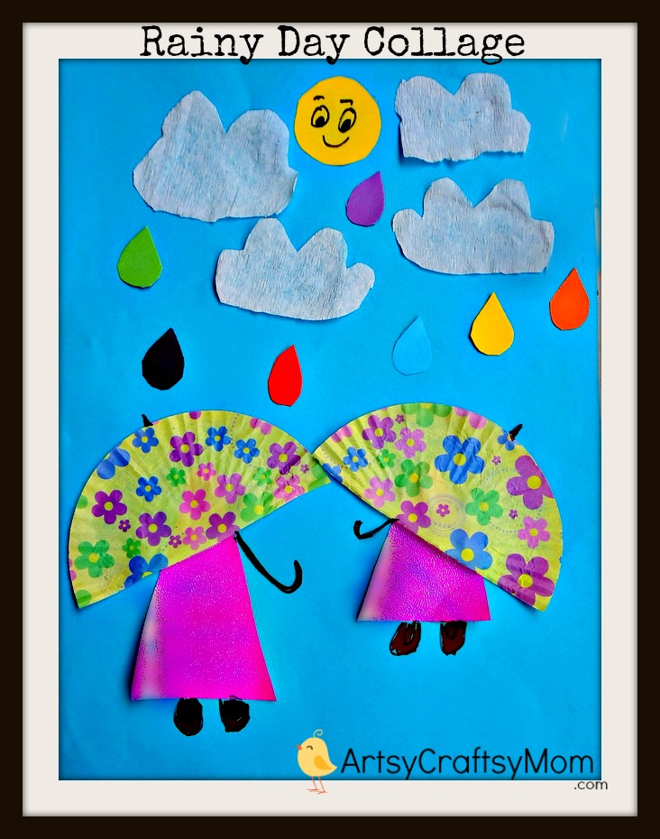 Rainy+day+paper+Collage Rainy Day Collage age5 7 age3 5  Pasting activities Paper Crafts Craft Classes