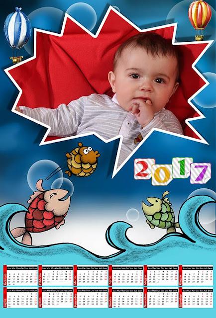 Calendario 2017 per bambini