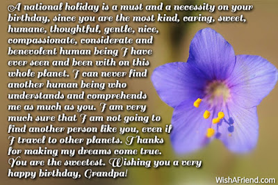 Happy Birthday wishes for grandfather: a national holiday is a must and a necessity birthday