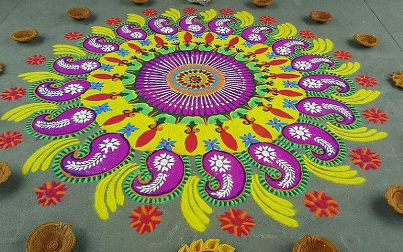 easy rangoli design for diwali