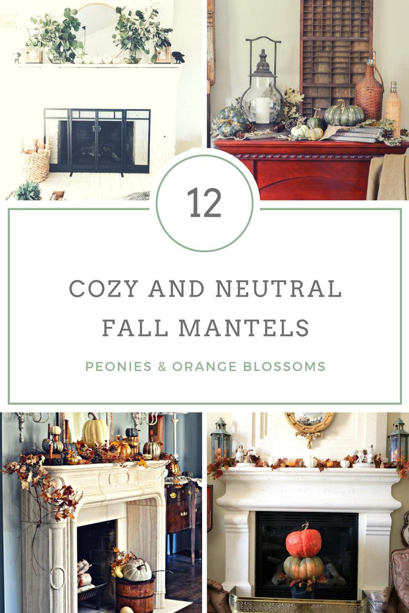 12 cozy and neutral Fall mantel decor ideas