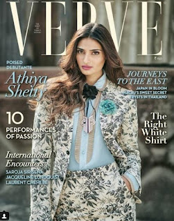 Athiya Shetty on cover page of Verve India Magazine April 2016