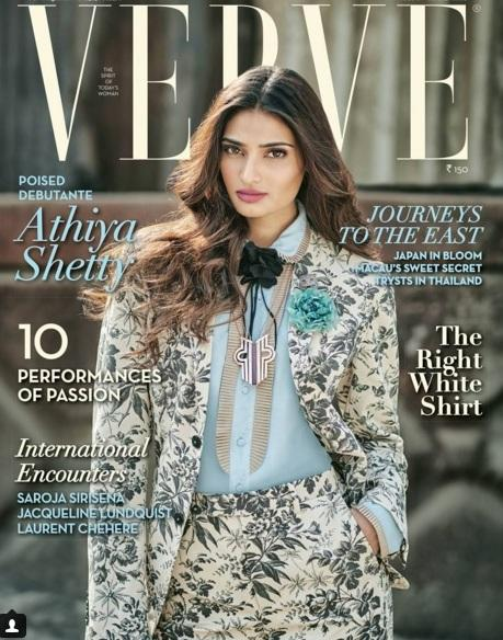 Athiya Shetty On The Cover Of Verve Magazine April 2016 Issue
