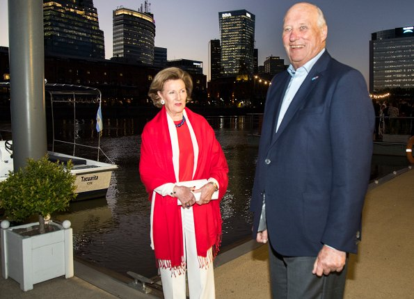 King Harald and Queen Sonja attended a reception hosted by Innovation Norway.