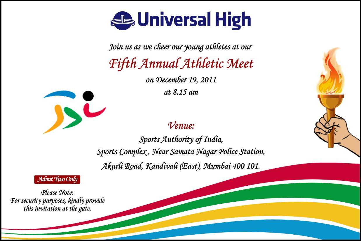 school sports meet invitation card