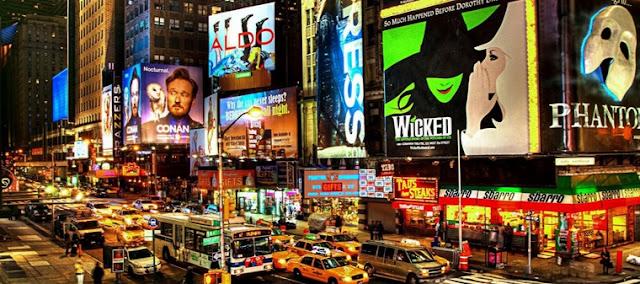 Broadway y su cartelera de espectáculos