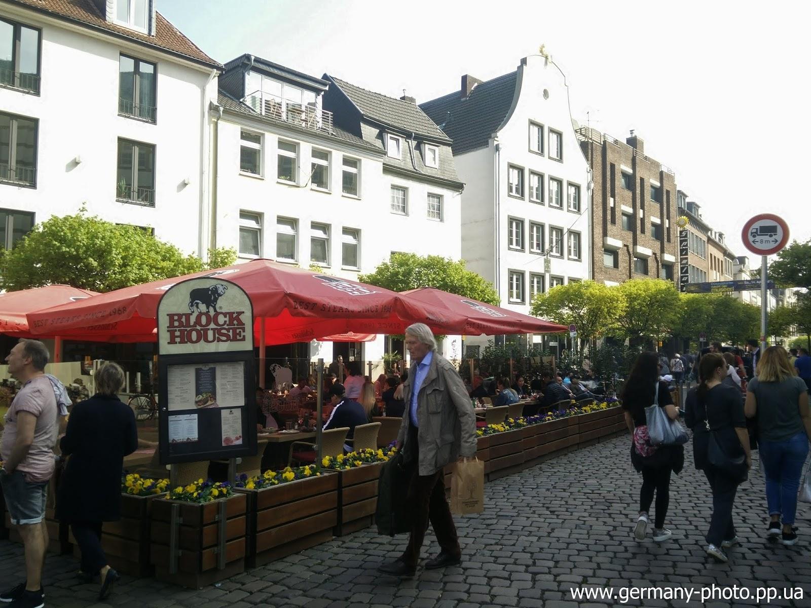 Улица Бургплац в центре Дюссельдорфа