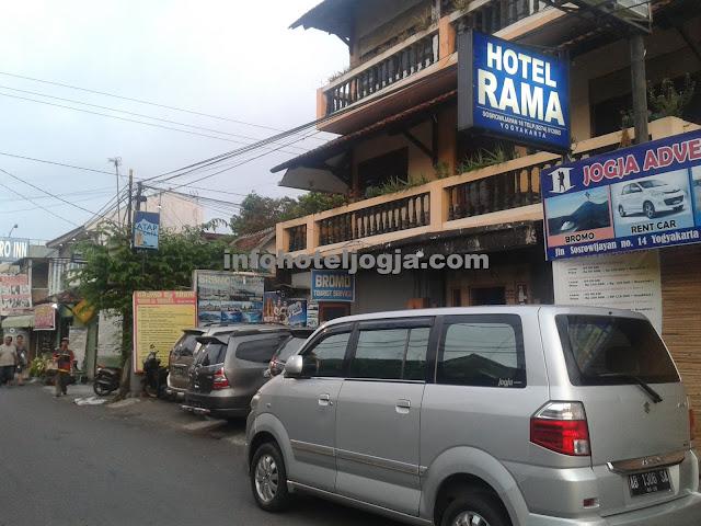 Hotel Rama dekat malioboro jogja.