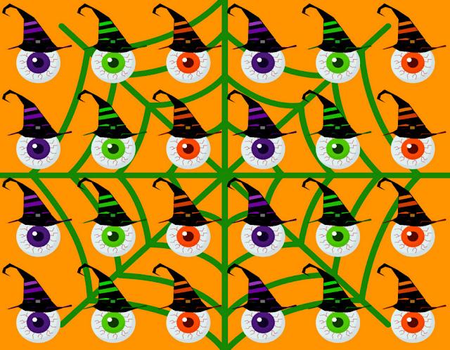 Halloween-bloody-eye-orange-pattern-design-by-yamy-morrell