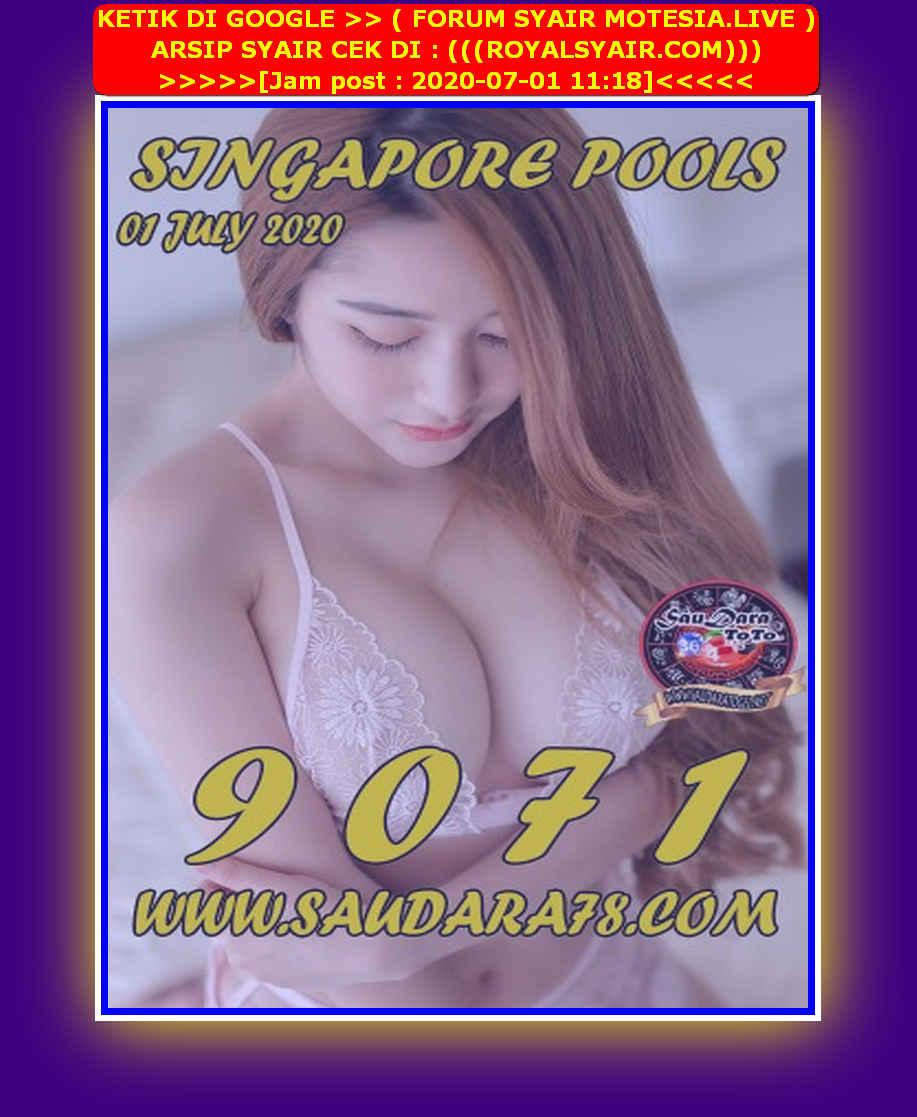 Kode syair Singapore Rabu 1 Juli 2020 89