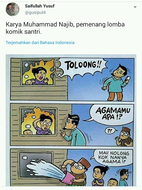 Akun Twitter Gus Ipul Unggah Komik Menyinggung Umat Islam, Netizen: