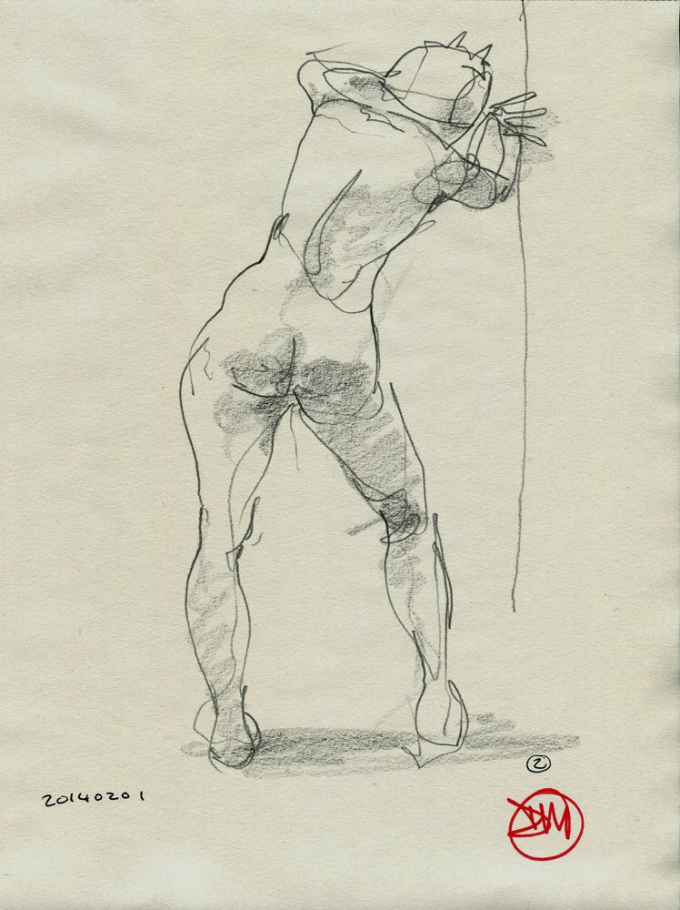 Figure drawing by David Meldrum