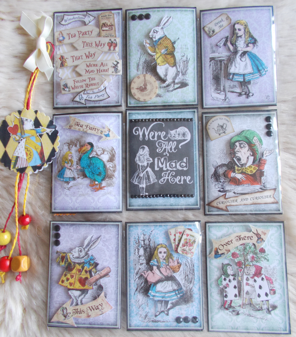 Craftilicious creations pocket letters Alice and wonderland art projects