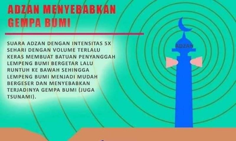 Suara Adzan Disebut-sebut Sebagai Penyebab Gempa Bumi Oleh Pria Asal Menado
