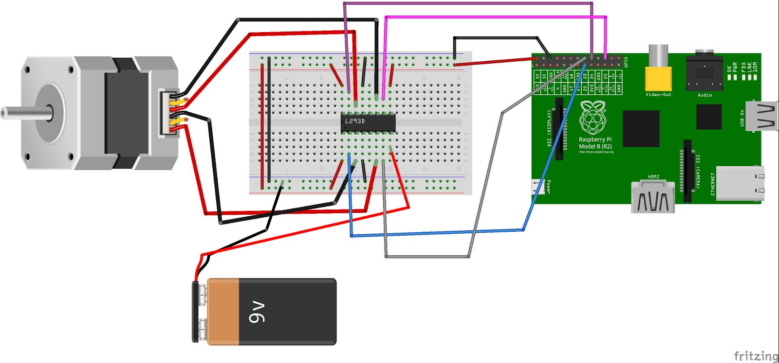 lectronique en amateur contr le d 39 un moteur pas pas par un raspberry pi. Black Bedroom Furniture Sets. Home Design Ideas